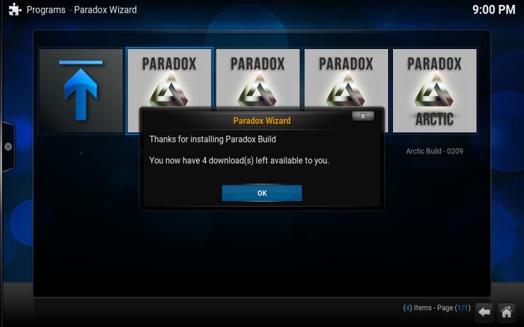 Latest Paradox Build Kodi